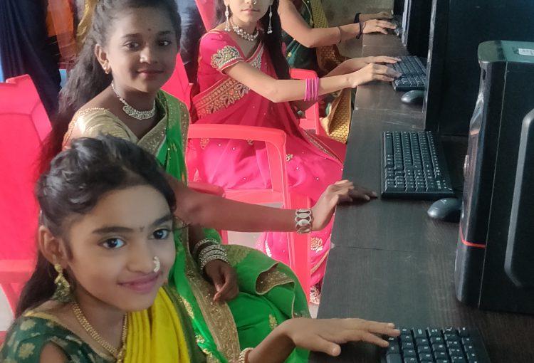 Computer donation at Zilla Parishad school, Shelu